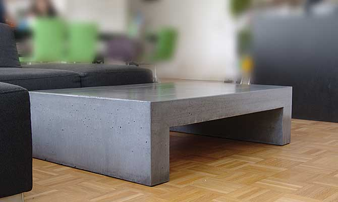 couchtisch aus beton tisch u form in funktion. Black Bedroom Furniture Sets. Home Design Ideas