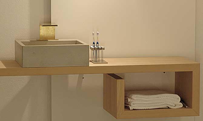waschbecken aus beton alea form in funktion. Black Bedroom Furniture Sets. Home Design Ideas