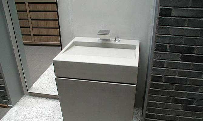 waschtisch aus beton rampe form in funktion. Black Bedroom Furniture Sets. Home Design Ideas
