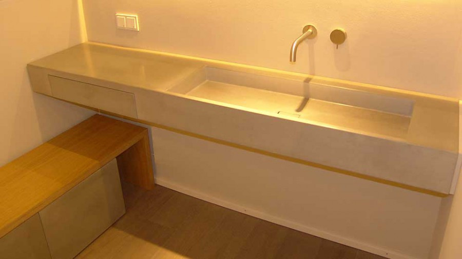 waschtisch aus beton victum 100 form in funktion. Black Bedroom Furniture Sets. Home Design Ideas